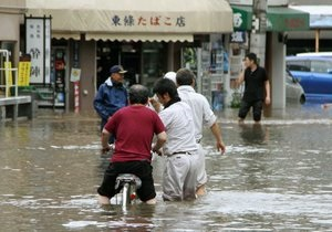 Повінь в Японії: Більше чверті мільйона людей готуються до евакуації