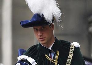 Принц Вільям став лицарем Ордена Чортополоху