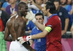 ЗМІ: Балотеллі посварився з Буффоном після фіналу Євро-2012
