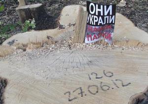 DW: Вирубка дерев у Харкові. Футбольні поля замість парку