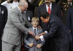 Лукашенко пообіцяв Чавесу, що його син продовжить співпрацю із Венесуелою