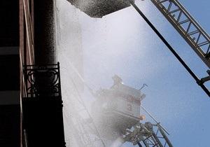 У центрі Києва в 27-поверховому будинку загорівся балкон фітнес-центру