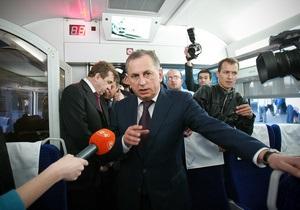 Колесніков звинуватив ЗМІ у  джинсі  проти запровадження швидкісного залізничного руху в країні