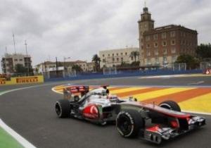 Гран-прі Європи: Баттон показав найкращий час на третій практиці