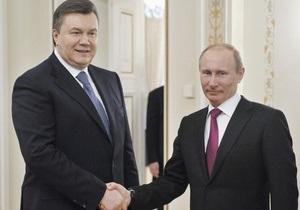 Янукович привітав Путіна з Днем Росії