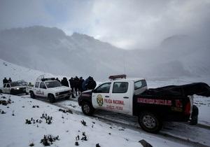 Зниклий у горах Перу вертоліт знайдено. 14 іноземних туристів загинули