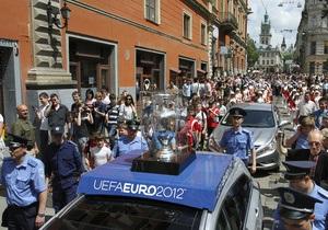 Во Львов уже прибыло около 15 тысяч немецких и португальских фанатов