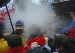 У міліції заперечують застосування сльозогінного газу проти учасників мітингу під Радою