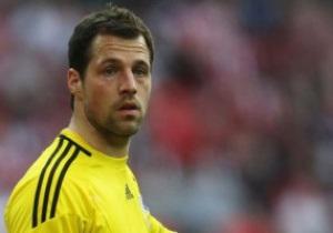 Основной голкипер сборной Дании пропустит  Евро-2012 из-за травмы, полученной в товарищеском матче