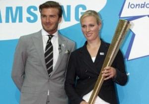 Бекхем доставить олімпійський вогонь до Англії