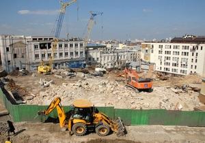 Будівництво торгового центру на Андріївському було погоджене не з мерією, а з Мінкультом - КМДА