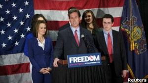Рік Санторум вибув з президентських перегонів у США