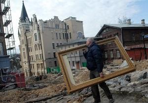 Фотогалерея: Ламати - не будувати. На Андріївському узвозі знесли три будівлі