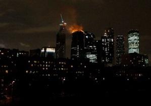 Фотогалерея: Федерація у вогні. Пожежа в одній з веж Москва-сіті