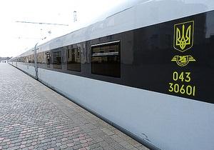 Первый скоростной поезд украинского производства отправился в свой первый рейс