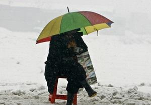 Прогноз погоди: в Києві очікується сніг