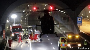 В аварії автобуса у Швейцарії загинули 22 дитини