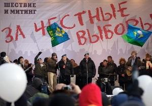 Опозиція на мітингу в Москві озвучила свої вимоги