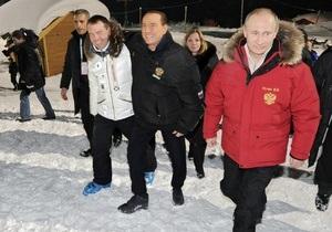 Берлусконі зустрівся з Медведєвим і Путіним