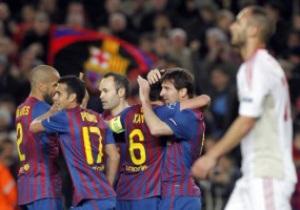 Барселона, разгромив Байер, повторила рекорд плей-офф Лиги Чемпионов