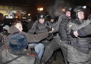 Путін: Ряд мітингувальників домагалися застосування сили, але дії поліції були дуже коректними