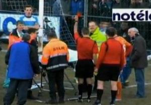 В Бельгии арбитр удалил находившегося без сознания игрока за симуляцию