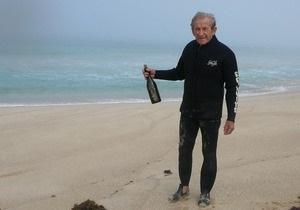 83-річний австралієць знайшов послання в пляшці, кинуте з яхти Конюхова три роки тому