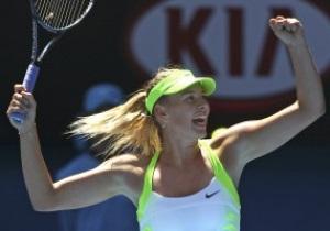 Шарапова вышла в полуфинал Australian Open