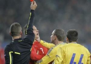 Удаление Кучера стало первым за последние пять лет в истории сборной Украины