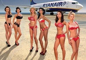 Крупнейший лоукост Ryanair выпустил календарь со стюардессами в бикини