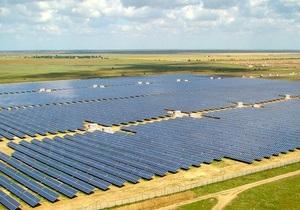 В Украине построили крупнейшую в Центральной Европе солнечную электростанцию