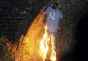 Фанаты Манчестер Сити сожгли чучело Тевеса