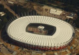 Перший матч на новому стадіоні у Варшаві буде зіграно тільки в лютому 2012 року