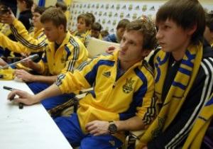 Фотогалееря: Алиев и Ко. Футболисты сборной Украины порадовали детей