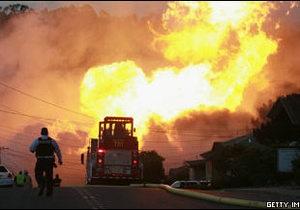 Потужний вибух на газопроводі у Каліфорнії