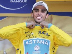Тур де Франс: Контадор назвал Шлека своим другом