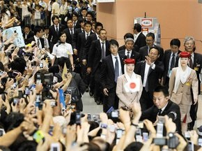 Збірна Японії повернулася на батьківщину