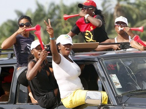 Вболівальницям заборонили роздягатися на матчах ЧС-2010