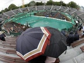 Початок матчів Roland Garros затримується через дощ
