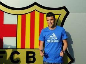 Вилья подписал четырехлетний контракт с Барселоной