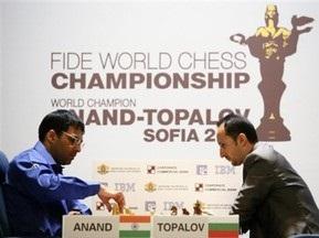 Шахматы: Ананд сравнял счет в матче с Топаловым