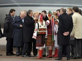 Платини прибыл в Украину с двухдневным визитом