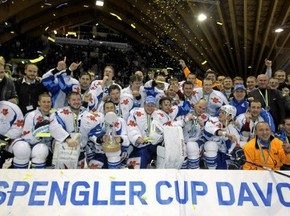 Белорусские хоккеисты разбили Кубок Шпенглера