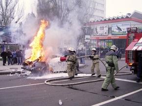 Милиция и МЧС учились усмирять футбольных хулиганов возле Донбасс-Арены
