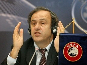 Платини: УЕФА может сократить количество украинских городов, принимающих Евро-2012