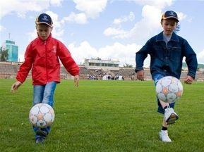 Украинские дети вывели на поле Роналдо и Месси в финале Лиги Чемпионов