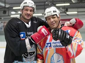 Чагаев сыграл в хоккей