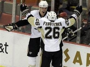 NHL: Федотенко принес Пингвинам победу в сумасшедшем матче