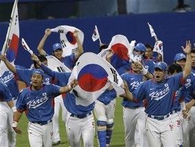 Корейские бейсболисты выиграли Олимпиаду