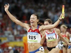 Бег: Россиянки взяли золото в эстафете